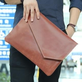 MURATI - Faux-Leather Color-Block Envelope Clutch