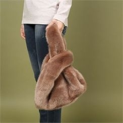 Styleberry - Faux-Fur Hand Bag