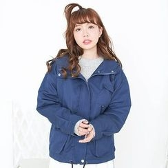 Angel Love - Pocketed Hooded Jacket