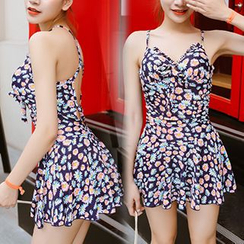 Sweet Splash - Floral Print Swimdress