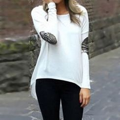 Rocho - Long-Sleeve Sequined Accent T-Shirt