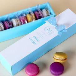 LIFE STORY - Set of 5: Printed Paper Macaroon Gift Box