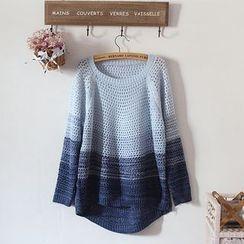 akigogo - 渐变色针织毛衣