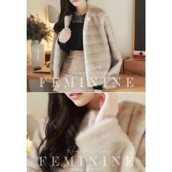 MyFiona - Gradient Faux-Fur Jacket