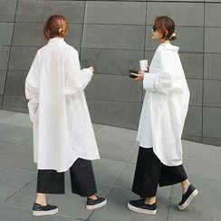 STYLEBYYAM - 寬身長襯衫