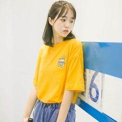 DK Yannie - 刺繡短袖T恤