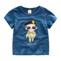Kido - Kids Cartoon Print  Short-Sleeve T-Shirt