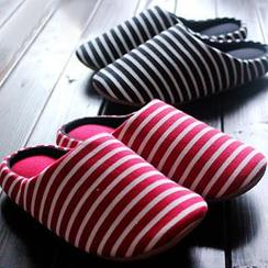 川島屋 - 條紋情侶拖鞋