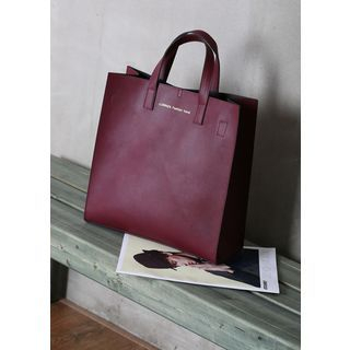MODSLOOK - Faux-Leather Tote with Shoulder Strap