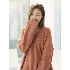 BBAEBBAE - Wool Blend Rib-Knit Sweater