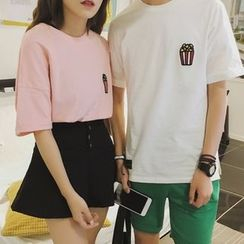 JUN.LEE - Couple Matching Short-Sleeve T-shirt