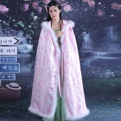 Cypress - Traditional Chinese Costume: Faux Fur Trim Cape