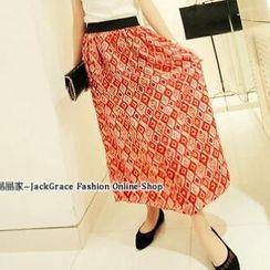 Jack Grace - Printed Chiffon Long Skirt