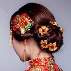 Suaylla - Tasseled Bridal Hair Clip