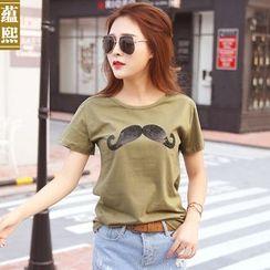 Ranee - Short-Sleeve Rhinestone T-Shirt