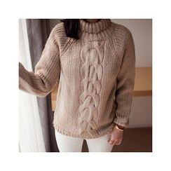 MASoeur - Turtle-Neck Wool Blend Sweater