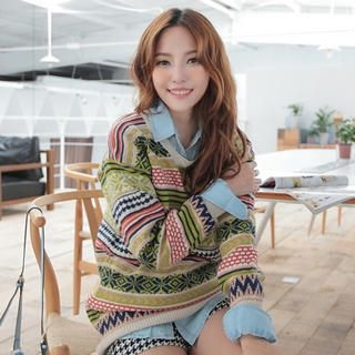 JK2 - Wool-Blend Nordic-Pattern Sweater