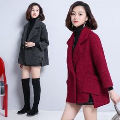 AiSun - Plain Notch Lapel Coat
