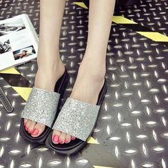 BAYO - Glitter Slide Sandals