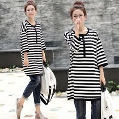 Grandia - Stripe 3/4-Sleeve Long T-shirt