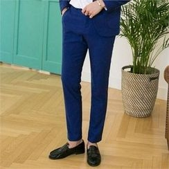 STYLEMAN - Flat-Front Colored Pants