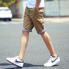 Alvicio - 纯色休闲短裤