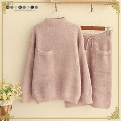 Maymaylu Dreams - Set: Pocketed Sweater + Knit Skirt
