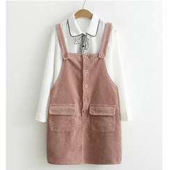 Citree - Corduroy Pinafore Dress