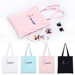 Eastin - 刺繡帆布購物袋