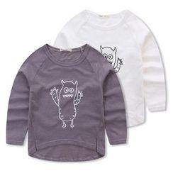 JAKids - 小童長袖怪獸印花T恤