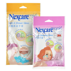 3M - Nexcare Remove Dead Skin Glove Set (2 items): Facial Cleansing Glove + Bath and Shower Glove