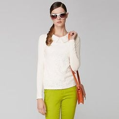 O.SA - Long-Sleeve Lace-Front Top