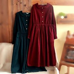 tete - Long-Sleeve Drawstring-Waist Dress