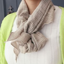 DANI LOVE - Plaid Cotton Light Scarf