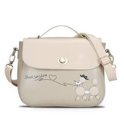 Rabbit Bag - Faux-Leather Appliqué Satchel