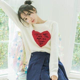 DK Yannie - Lettering Heart Sweater
