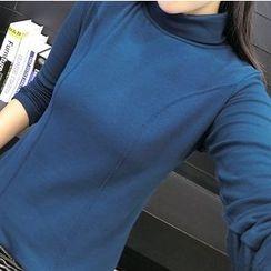Carabecca - Plain Fleece Lined Long Sleeve T-Shirt