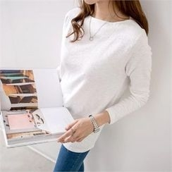 PEPER - Round-Neck Plain T-Shirt