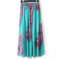 Pretty Daze - Drawstring Waist Maxi Chiffon Skirt