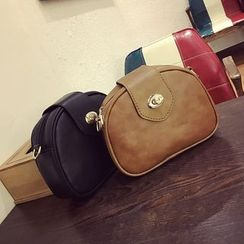 Diamante - Faux Leather Shoulder Bag