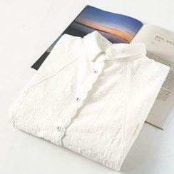 蘭芝 - 刺繡長款襯衫