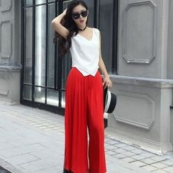 Lovebirds - Set: Sleeveless Top + Pants