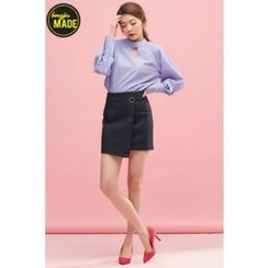 BONGJA SHOP - Flap-Front Zip-Back Skirt