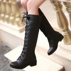 TULASI - Lace-Up Tall Boots