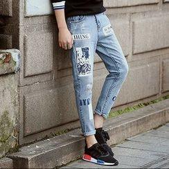 Danjieshi - Printed Jeans