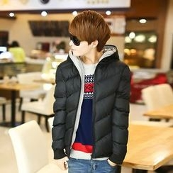 COOLS - Plain Hooded Padded Coat