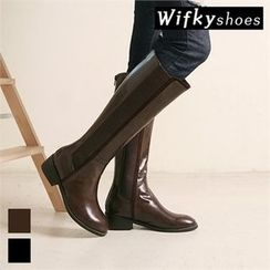 Wifky - Banded-Trim Tall Boots