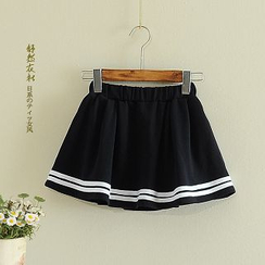 Storyland - Striped-Hem A-Line Skirt