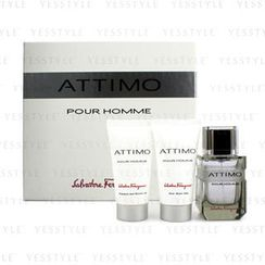 Salvatore Ferragamo - Attimo Pour Homme Coffret:Eau De Toilette Spray 60ml + Shower Gel 50ml + After Shave Balm 50ml