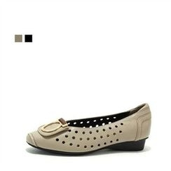 MODELSIS - Genuine Leather Perforated Flats